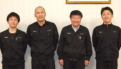 野口勝利氏、高橋実氏、 中村一夫氏、丸田公威氏の写真