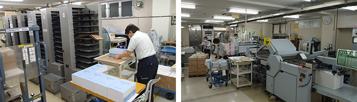 オフセットからPODへの移行が進んだことで、後加工部門まで含めた効率化が実現している。
